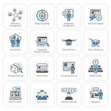 Flat Design Business Icons Set. Stock Image