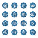 Flat Design Business Icons Set. Stock Photography