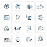 Flat Design Business Icons Set. Royalty Free Stock Photo