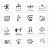 Flat Design Business Icons Set. Royalty Free Stock Image