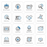 Flat Design Business Icons Set. Royalty Free Stock Images