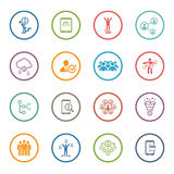 Flat Design Business Icons Set. Stock Images