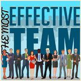 Effective business team. Flat design business illustration with group of business people royalty free illustration