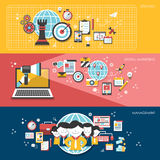 Flat design for business marketing concepts Stock Photography