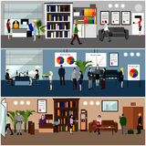 Flat design of business people or office workers Stock Photos