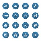 Flat Design Business Team Icons Set. Royalty Free Stock Photo