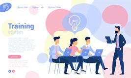 Flat design business traning