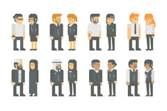 Flat design business worker set Royalty Free Stock Photo