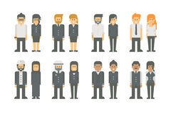 Flat design business worker set Royalty Free Stock Photography