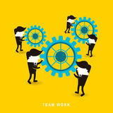 Flat design of businessmen team work Royalty Free Stock Photos