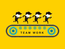 Flat design of businessmen team work Stock Images