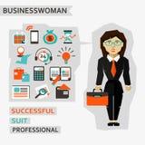 Flat design. Businesswoman Stock Image