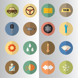 Flat design of Car service half cut icons Stock Images