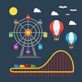 Flat design of carnival festival. Illustration vector Stock Images