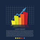 Flat design chart Stock Photography