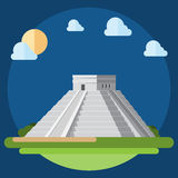 Flat design of Chichen Itza Stock Images