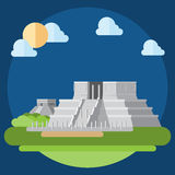 Flat design of Chichen Itza Stock Photos