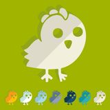 Flat design. chicken Royalty Free Stock Image