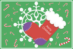 Flat Design Christmas Card / Background with Stock stock photography