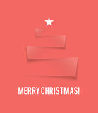 Flat design Christmas card Royalty Free Stock Images