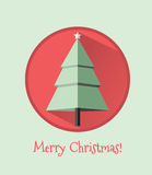 Flat design Christmas card Stock Photo