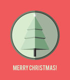 Flat design Christmas card. Stock Images