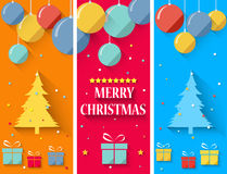 Flat design christmas greeting card Stock Photo
