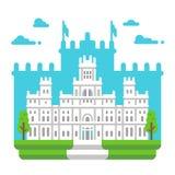 Flat design Cibeles palace Madrid. Illustration royalty free illustration