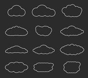 Flat design cloudscapes collection Royalty Free Stock Image