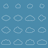 Flat design cloudscapes collection. Royalty Free Stock Photos