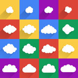 Flat design cloudscapes collection. Royalty Free Stock Image