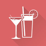 Flat design cocktail Royalty Free Stock Photo