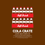 Flat Design Cola Crate Stack. Royalty Free Stock Images
