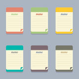 Flat Design Colorful Memo Royalty Free Stock Images