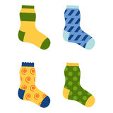 Flat design colorful socks set vector illustration. Stock Photo