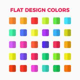 Flat design colors set Stock Photo