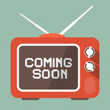 Flat Design Coming Soon Vector Title Stock Photography
