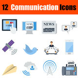 Flat design communication icon set Royalty Free Stock Images