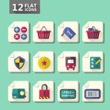 Flat design computer icon set Royalty Free Stock Image