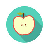 Flat Design Concept Apple Vector Illustration With Stock Photo