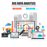 Flat design concept of business big data analysis Royalty Free Stock Photo