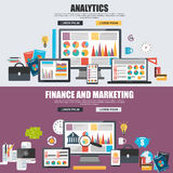 Flat design concept of business big data analysis Stock Photography