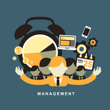 Flat design concept of business management Royalty Free Stock Photos