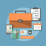 Flat design concept of business management Royalty Free Stock Image