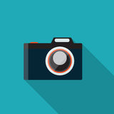 Flat Design Concept Camera Vector Illustration Stock Photography