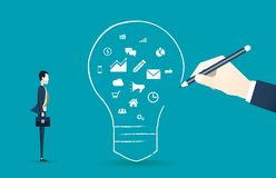 Flat design concept for creative business thinking. Concept Royalty Free Stock Images