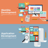 Flat design concept for development websites and apps Stock Photography
