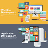 Flat design concept for development websites and apps Royalty Free Stock Photos