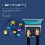 Flat design concept of e-mail marketing Stock Photo