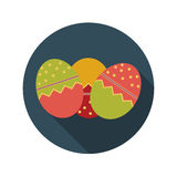Flat Design Concept of Easter Eggs Vector Royalty Free Stock Photography